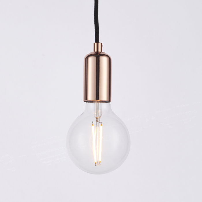 Spider - Industrial 3 Light Spider Suspension Kit with Copper Lampholders