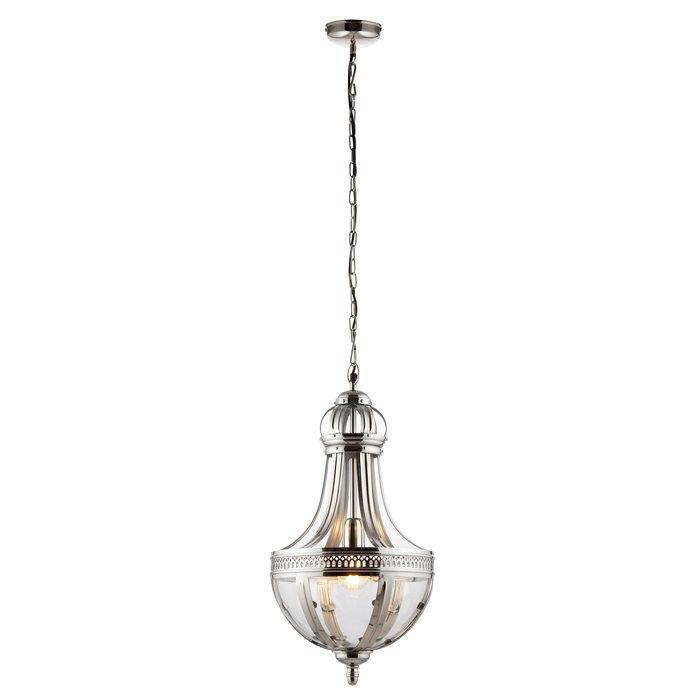 Opulent Classic Glass & Nickel Ceiling Light