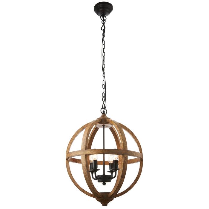 Mango Wood Globe - Feature Light