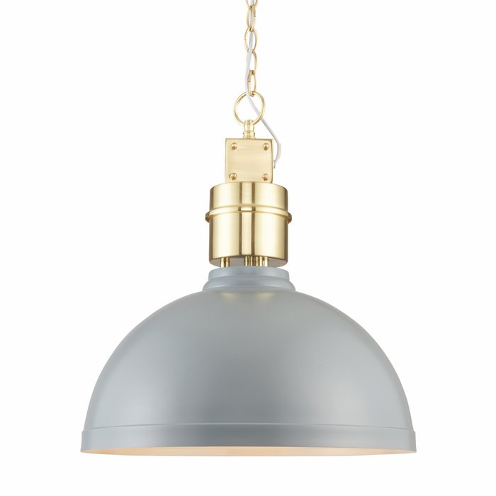 Storm Grey Industrial Ceiling Pendant
