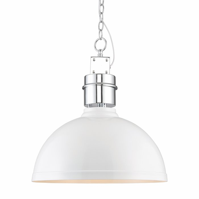 Gloss White Industrial Ceiling Pendant