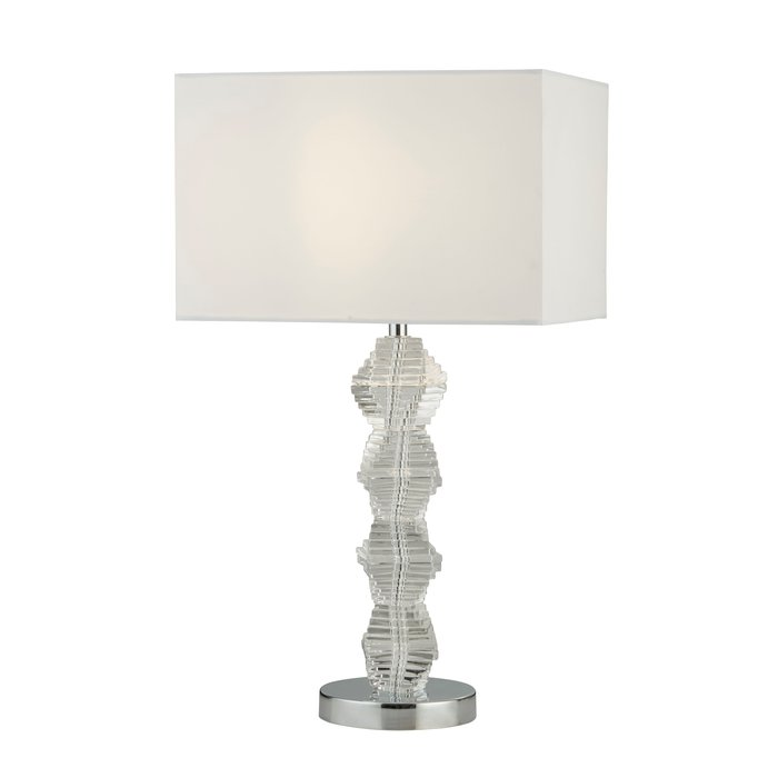 Modern Classic Double Helix Table Lamp - Polished Chrome