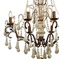 Shabby - 8 Light Vintage Chandelier - Weathered faux stone & Rustic Brown