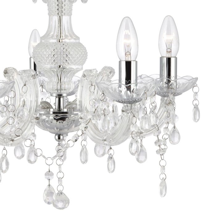 Marie Therese - Clear Glass & Chrome Chandelier