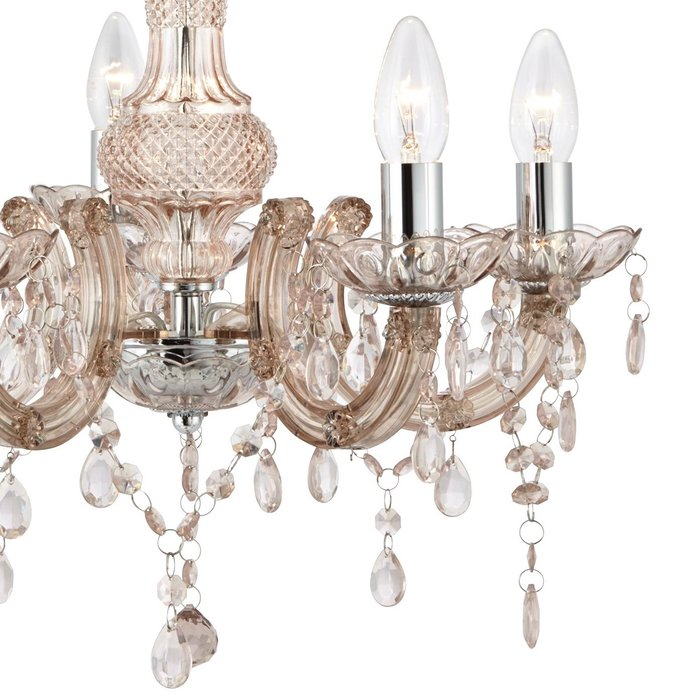 Marie Therese - Mink Glass & Chrome Chandelier