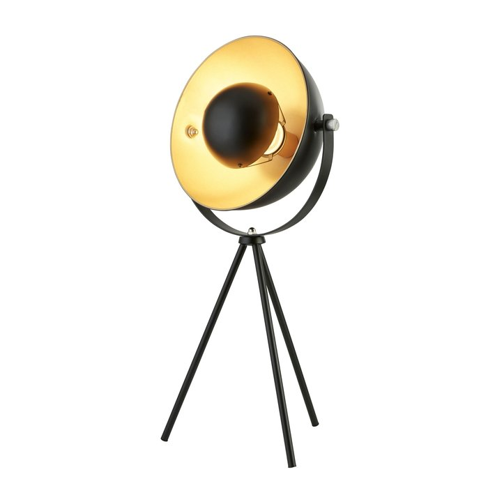 Loft - Modern Tripod Table Lamp - Black & Gold