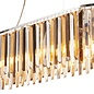 Modern Crystal Bar Pendant - Smoked, Clear & Amber Prisms
