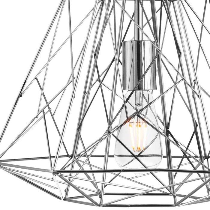 Geometric Wire Cage Pendant - Chrome