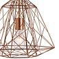 Geometric Wire Cage Pendant - Copper