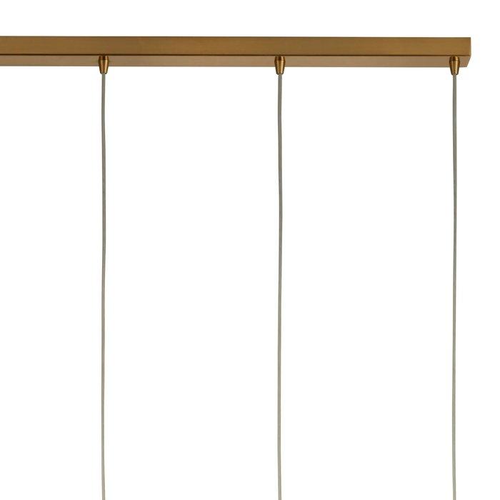Kono - Glass & Brass 4 Light Pendant