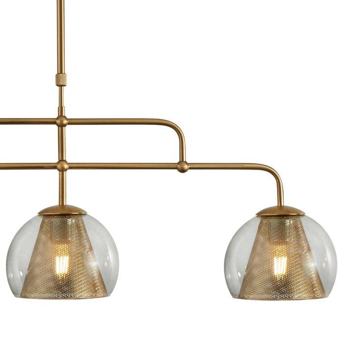 Kono - Modern Glass & Brass Bar Pendant
