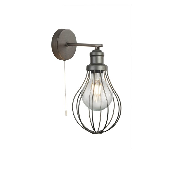 Indust - Cage Wall Light - Pewter