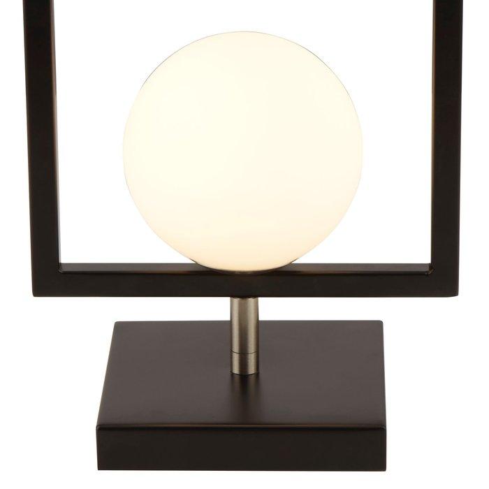 Roswell - Modern Matt Black & Opal Table Light