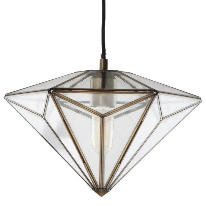 Diamond - Glass Panelled Pendant