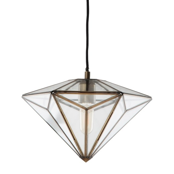 Diamond - Glass Panelled Pendant