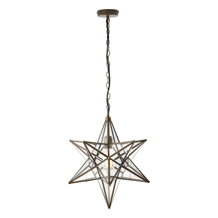 Sirius - Glass Panelled Star Pendant - Large