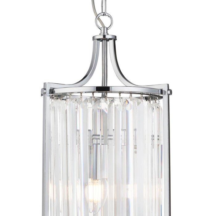 Elizabeth - Art Deco Crystal Pendant - Chrome