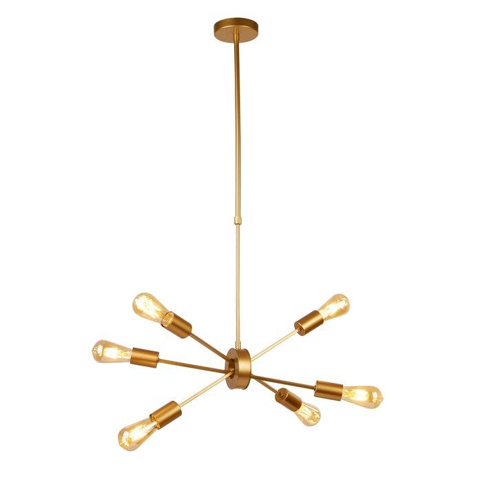 Romeo - Matt Gold Stick 6 Light Pendant