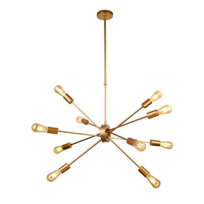 Romeo - Large Gold Sputnik Feature Pendant