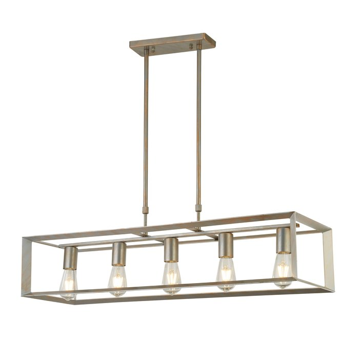 Keaton - Bar Pendant Brushed Silver and Gold Light