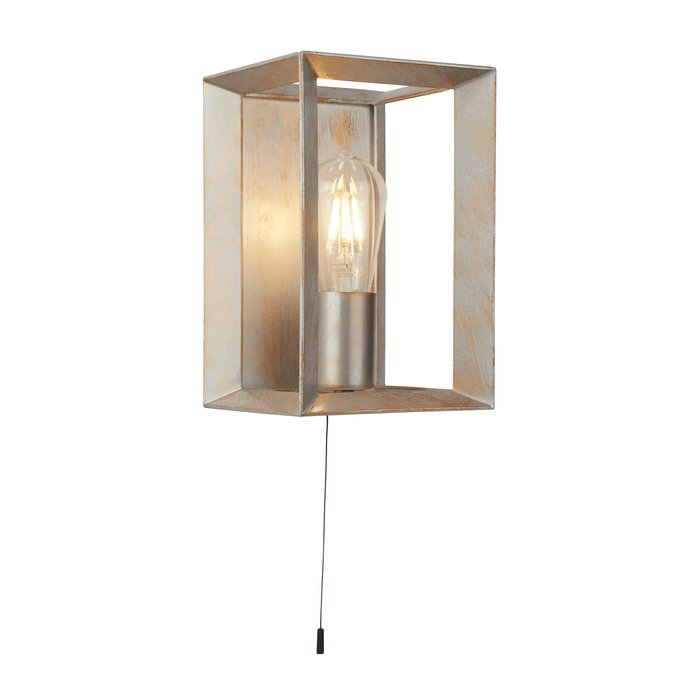 Keaton - Industrial Cage Wall Light