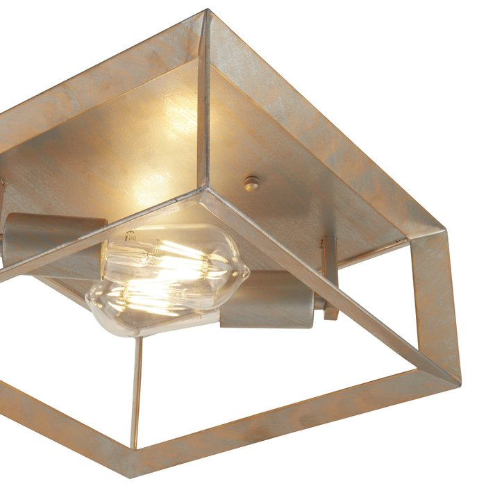 Keaton - Flush Brushed Silver and Gold Ceiling Light