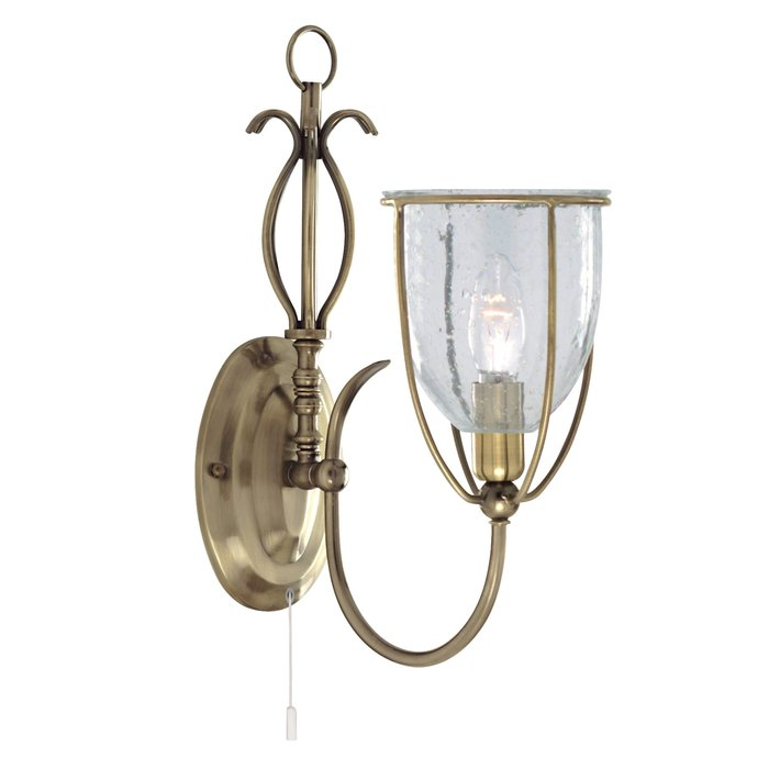 Classico - Ornate Seeded Glass Single Wall Light