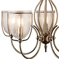 Classico - Ornate Seeded Glass 5 Light Pendant - Antique Brass