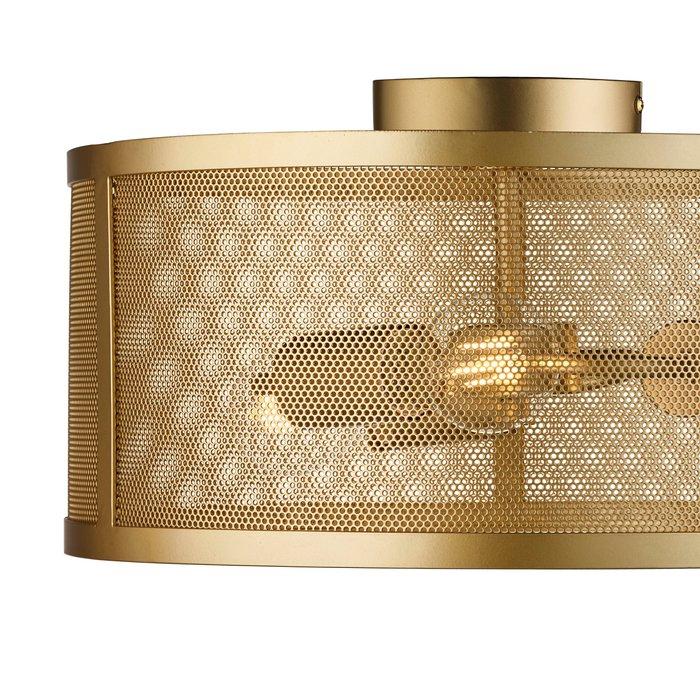 Fishnet Drum Flush Light - Gold