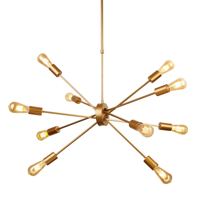 Romeo - Large Gold Sputnik Feature Pendant