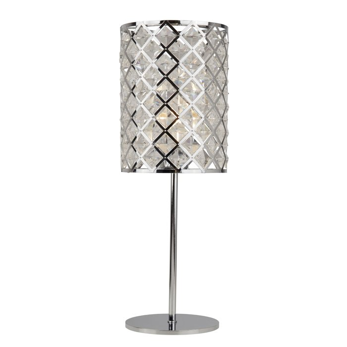 Houston - Glass & Polished Chrome Table Lamp