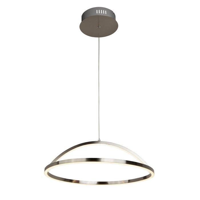Illusion - LED Ring Pendant - Satin Silver