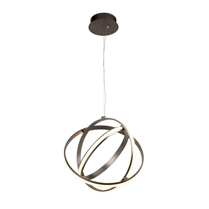 Gyro - Brushed Satin LED Rings Feature Ceiling Light