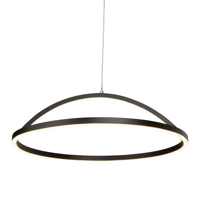 Illusion - LED Ring Pendant - Matt Black