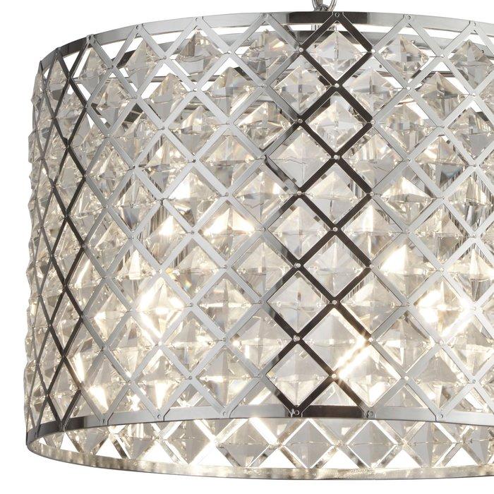 Houston - Glass & Polished Chrome Drum Pendant