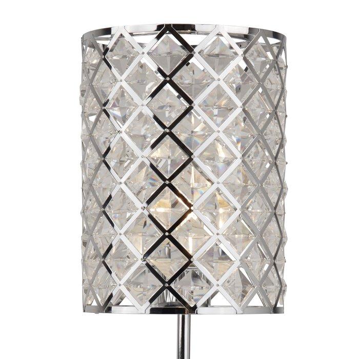 Houston - Glass & Polished Chrome Table Lamp
