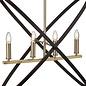 Hoop - Bronze & Black 4 Light Bar Pendant