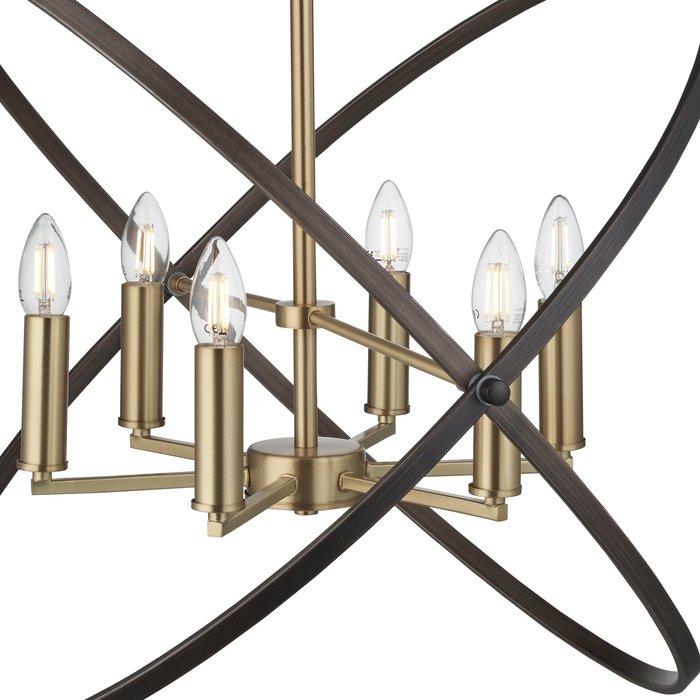 Hoop - Bronze & Black 6 Light Chandelier