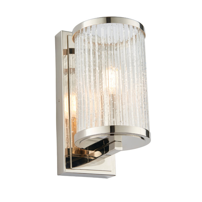 East - Ribbed Glass Hurricane Lamp Wall Light