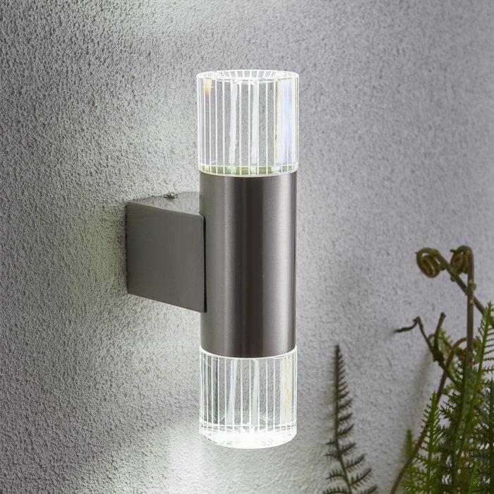 Mitchell - Stainless Steel Twin Modern Outdoor Wall Light
