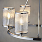 East - Ribbed Glass Hurricane Feature Light
