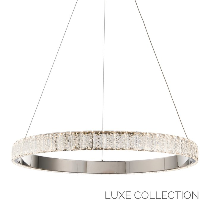 Houston - Clear Crystal & Chrome Plate LED Pendant