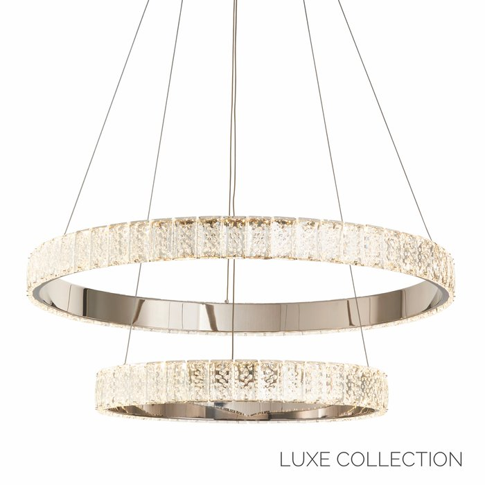 Houston Double -  Double Crystal Ring Feature Light