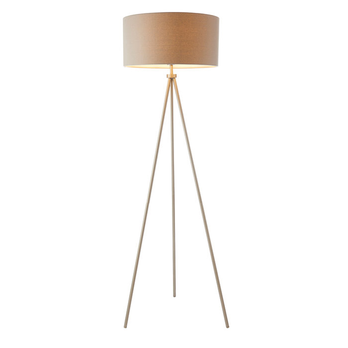 Modern Tripod Floor Lamp - Matt Nickel