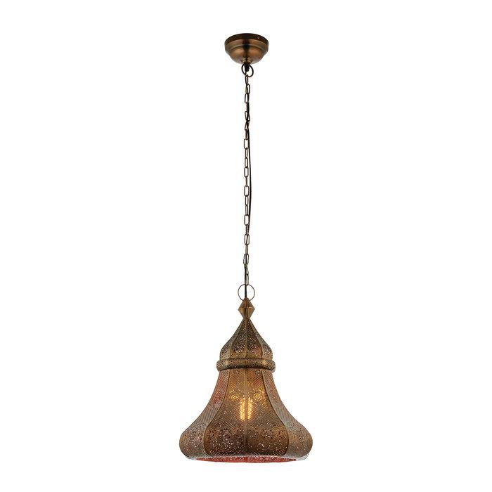Moroccan Style Pendant - Aged Bronze