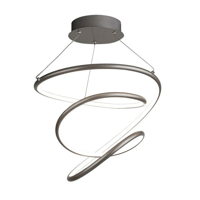 Illusion - Satin Silver Spiral LED Feature Light - Dimmable