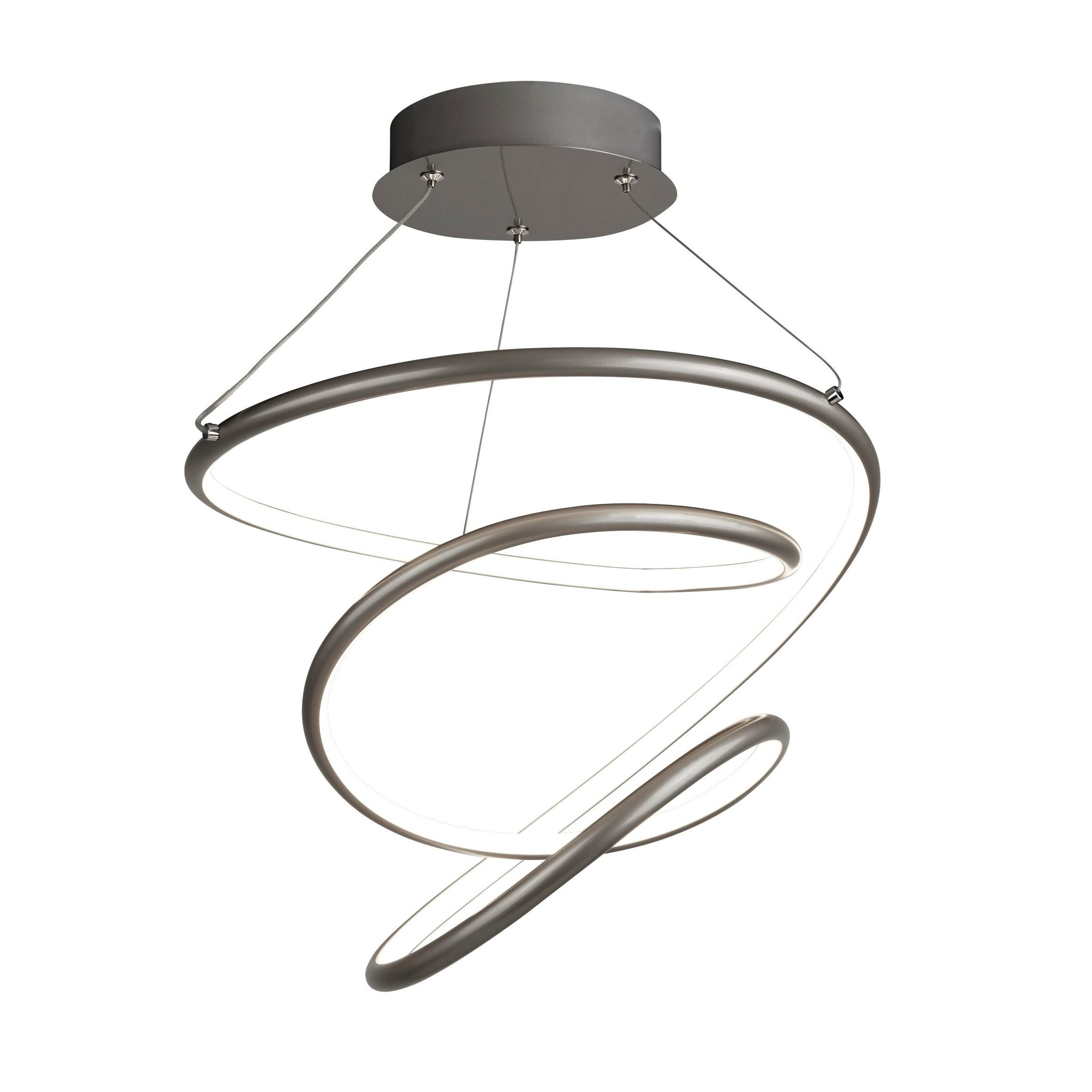 Illusion Satin Silver Spiral Led Feature Light Dimmable