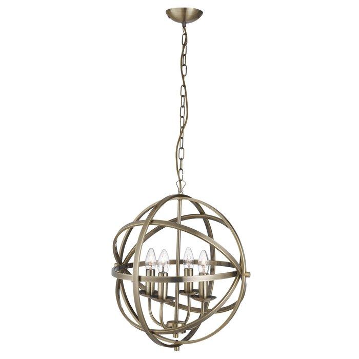 Armillary Sphere - 4 Light Feature Light - Antique Brass