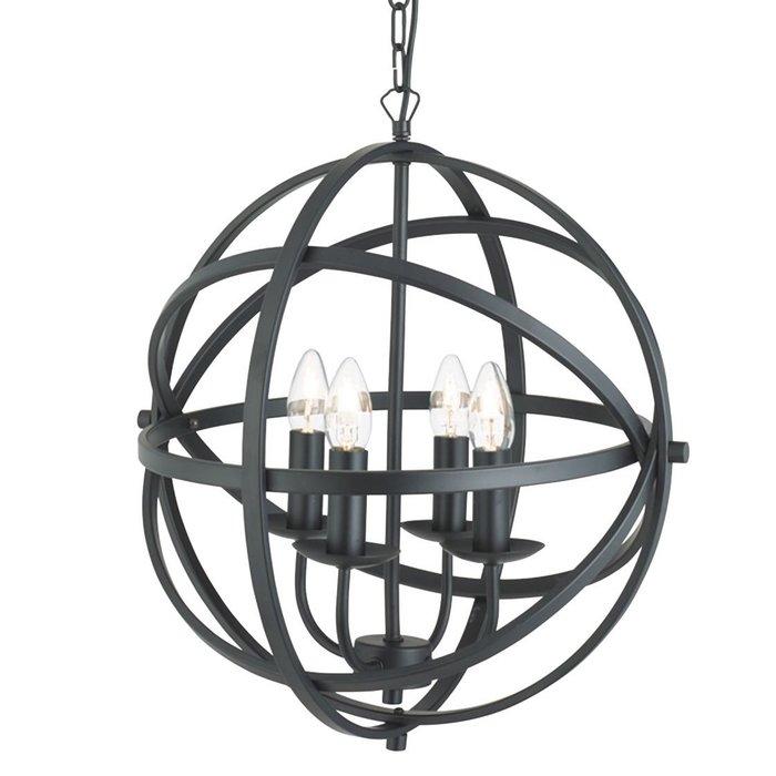 Armillary Sphere - 4 Light Feature Light - Black