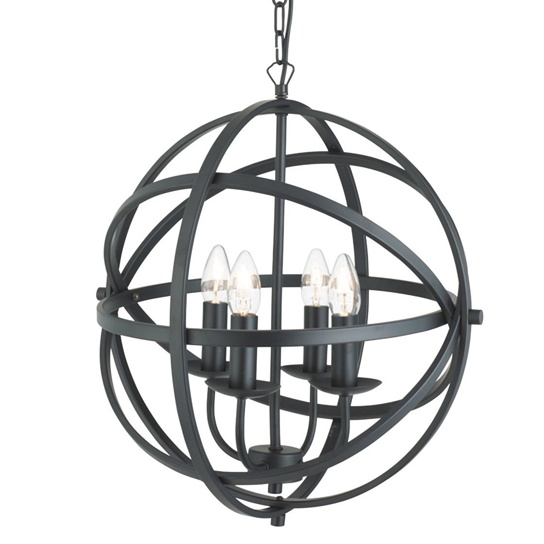 Large Armillary chandelier